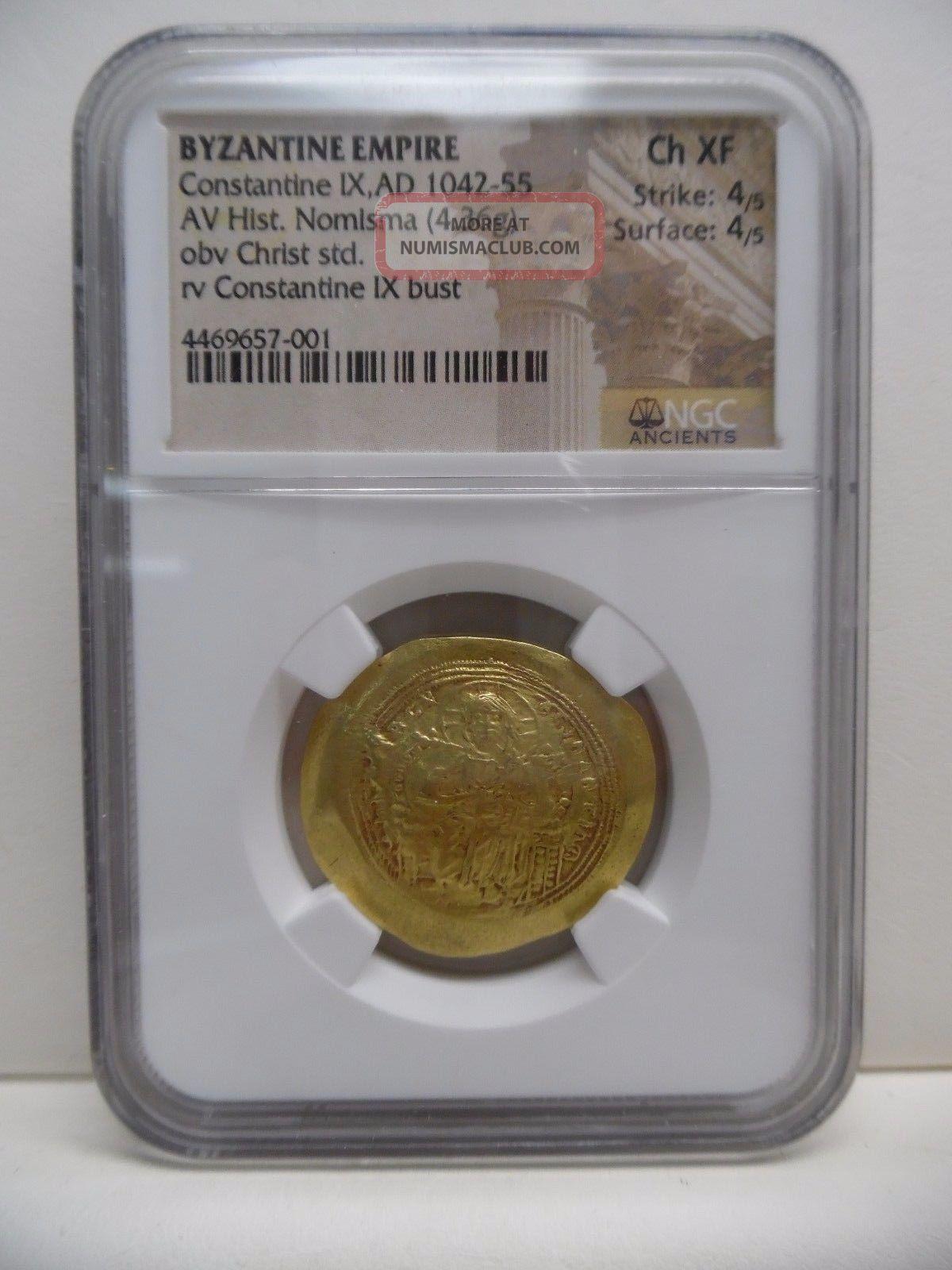 Byzantine Empire Constantine Ix,  Ad 1042 - 55 Coins: Ancient photo