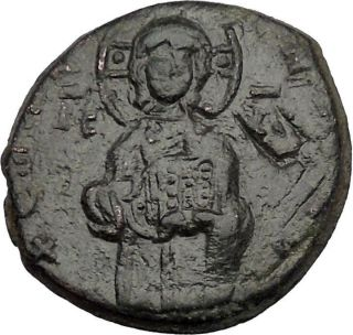 Jesus Christ Class C Anonymous Ancient 1034ad Byzantine Follis Coin I44003 photo