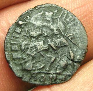 Constantius Ii - Ae3 Follis - Fallen Horseman - Ric 215,  Aquileia photo
