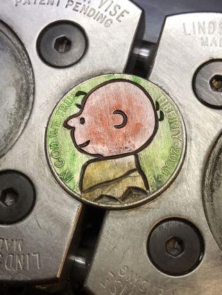 Hobo Nickel Coin Art Charlie Brown 116 photo