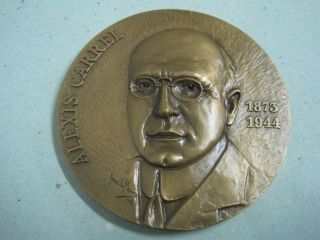 Nobel Prize For Medicine In 1912 Alexis Carrel 1873/1944 Bronze Medal photo