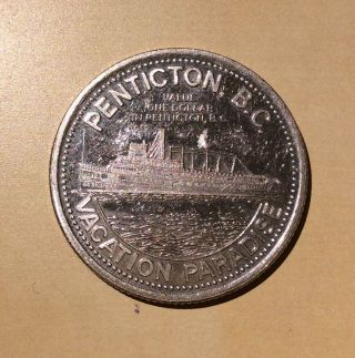 Canada Bc 1980 Steamboat Penticton Peach Festival Dollar Vacation Paradise photo