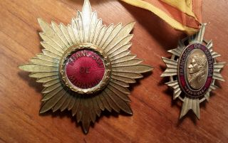 Venezuelan Order Of Francisco De Miranda Breast Star,  Companion Neck Medal photo