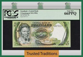 Tt Pk 9b 1984 Swaziland 5 Emalangeni