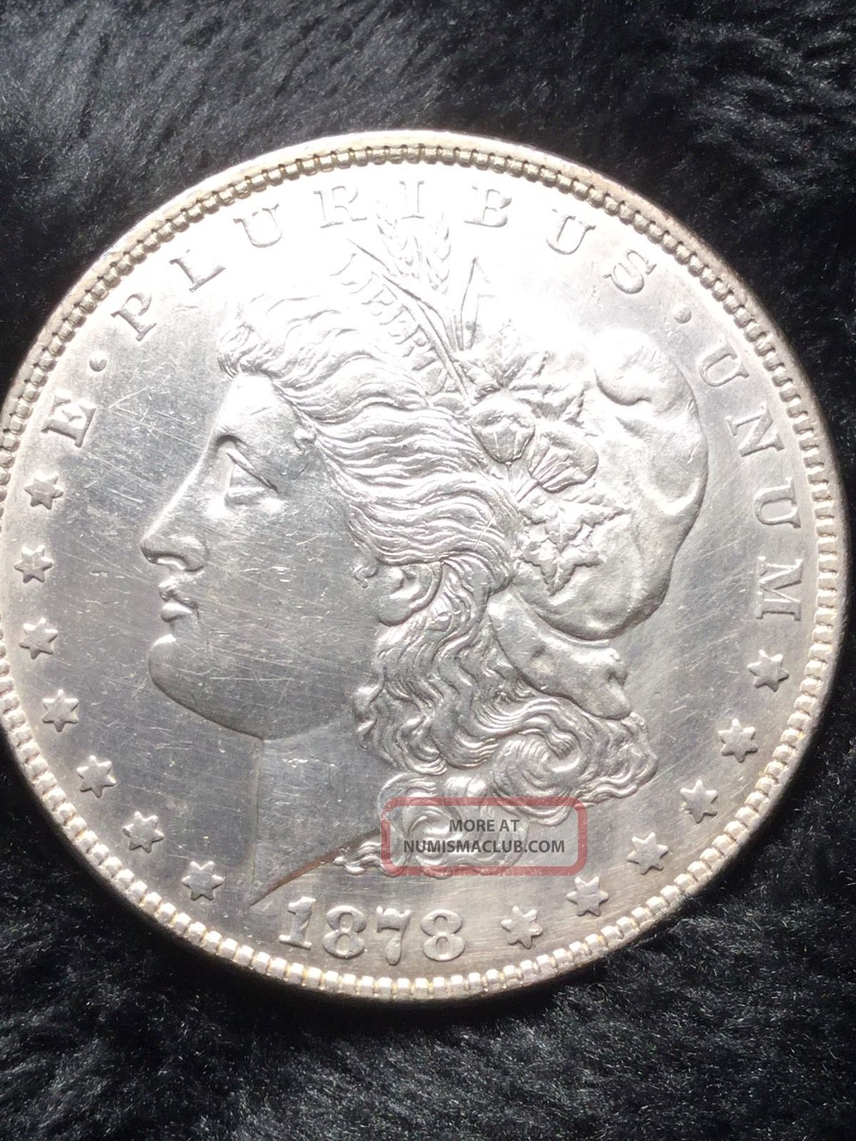 1878 7tf Rev78 Morgan Silver Dollar $1 Coin 90 Au,  Light Töne On Reverse Gem Dollars photo