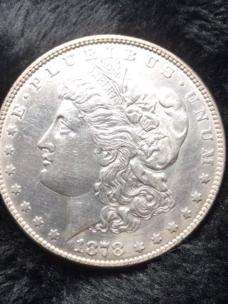 1878 7tf Rev78 Morgan Silver Dollar $1 Coin 90 Au,  Light Töne On Reverse Gem photo