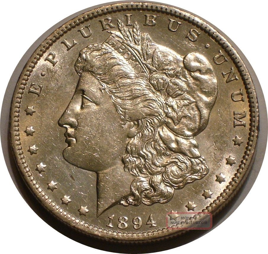 1894 O Morgan Silver Dollar Higher Grade Brilliant Full