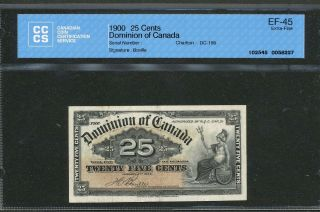 1900 Dominion Of Canada 25 Cents Ef - 45 Cccs