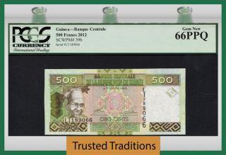 Tt Pk 39b 2012 Guinea 500 Francs