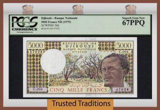 Tt Pk 38d 1979 Djibouti 5000 Francs