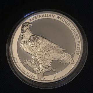 2016 1oz Silver Wedge - Tailed Eagle photo