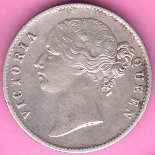 British India - 1840 - Divided Legend - One Rupee - Victoria - Rarest Silver Coin - 61 photo