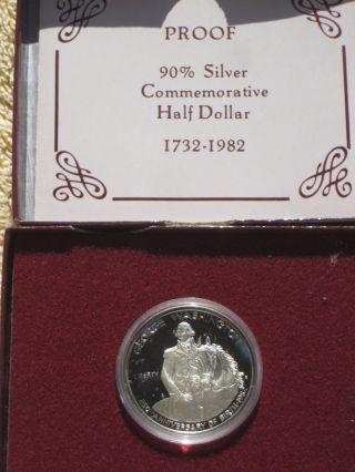 1982 - S George Washington 250 Anniversary Commemorative Proof Silver Half Dollar photo