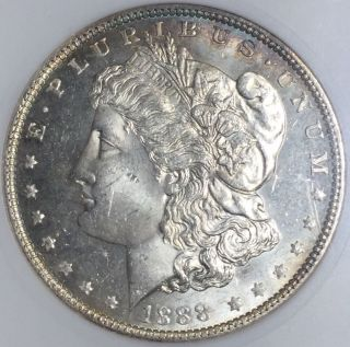 1888 - P $1 Morgan Silver Dollar (anacs Ms63dmpl) Gm16728 photo