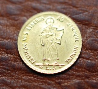 1898 San Marino Small Gold Coin photo