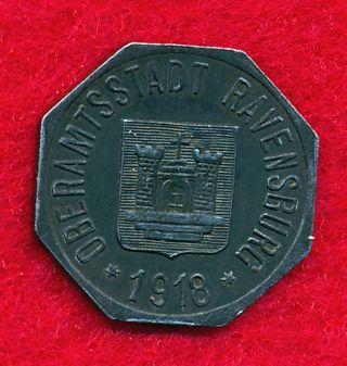 German Notgeld - Ravensburg 1918 50 Pfennig (iron) photo