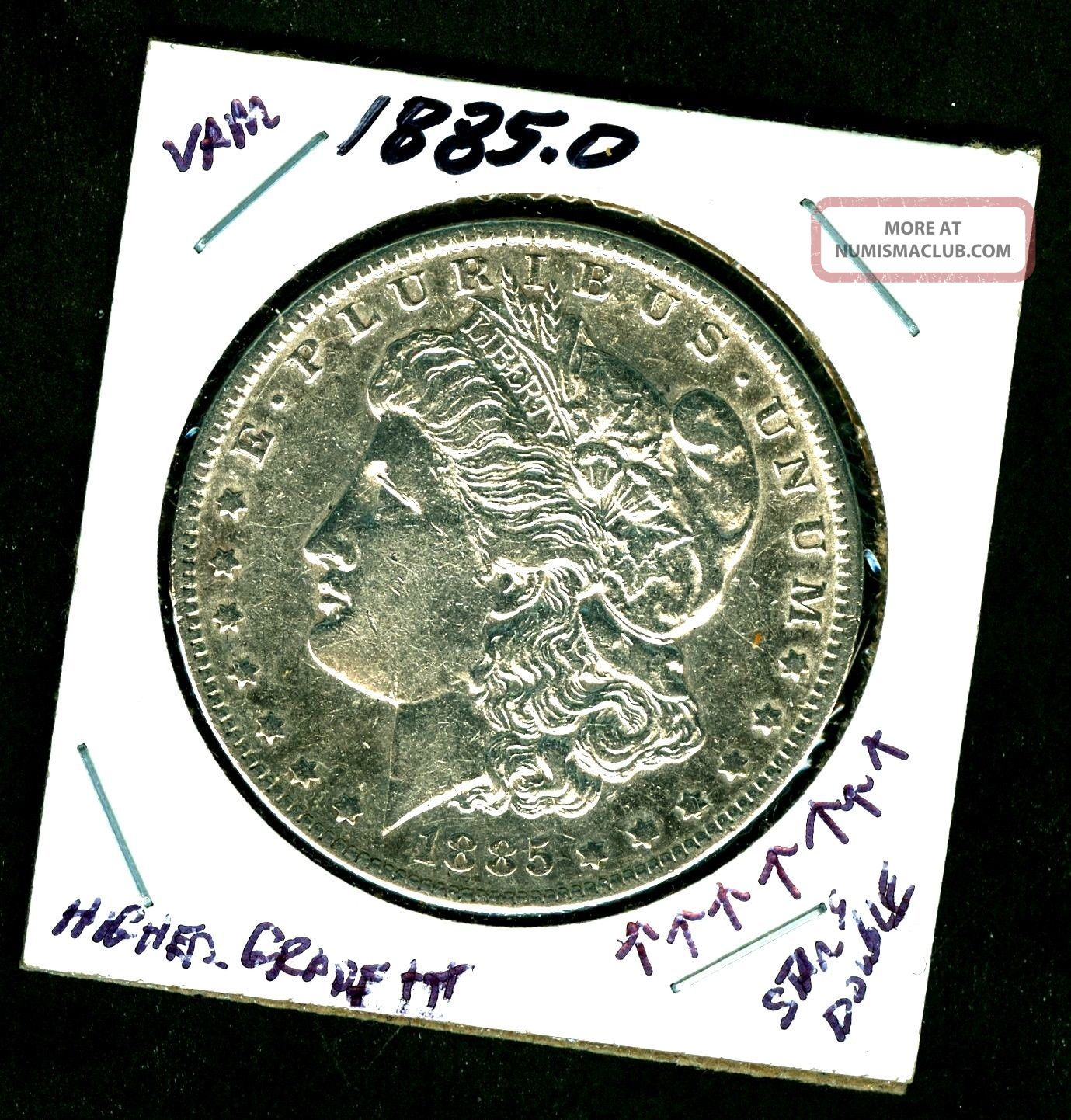 1885 0 Higher Grade,  Orleans 90 Silver Morgan Dollar U.  S.  693376 Dollars photo