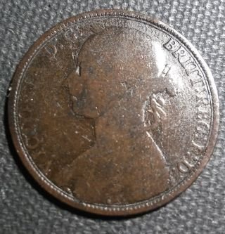 Uk (great Britain) 1879 Large Penny Bronze,  31 Mm photo