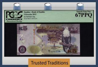 Tt Pk 50a 2012 Zambia 5 Kwacha