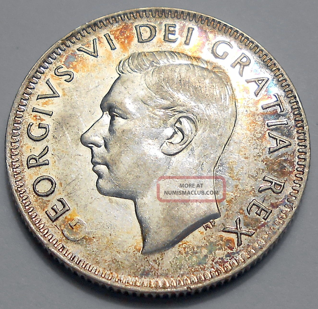 1949 Twenty - Five Cents Aef King George Vi Silver Canada Quarter Coins: Canada photo