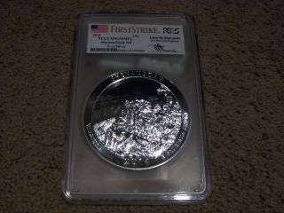 2014 5 Oz Silver Atb Shenandoah National Park Coin Pcgs Ms69 Dmpl Fs photo