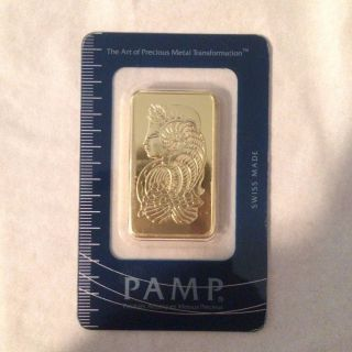 1 Oz Gold Bar Pamp Suisse (in Assay) Great Price photo