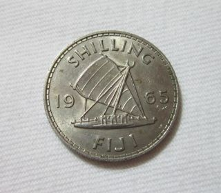 Fiji.  1 Shilling,  1965.  Queen Elizabeth Ii. photo