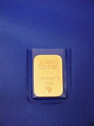 1 Gram Gold Bar / 24 Karat - 999,  9 / Albino Moutinho photo
