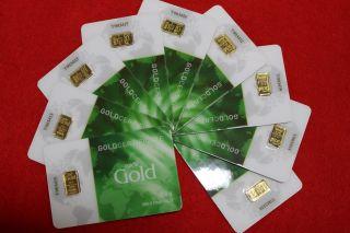 . 5 Gram Nadir 999.  9 Gold Bar X 9 (4.  5 Grams) photo