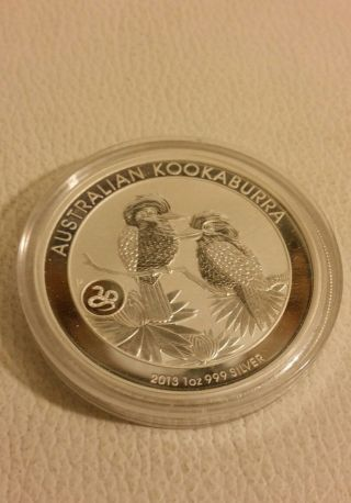 2013 Australian Kookaburra 1oz.  999 Silver photo
