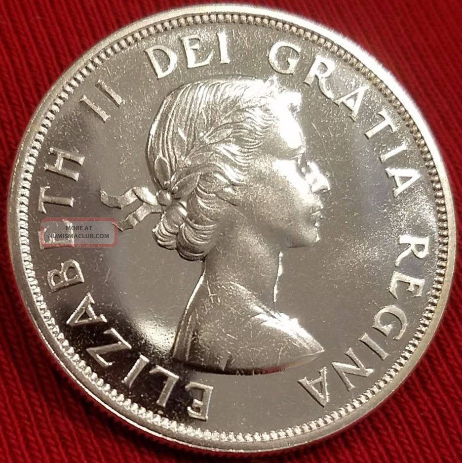Canada 1962 Silver Dollar Amp Stunning Coin Proof Like