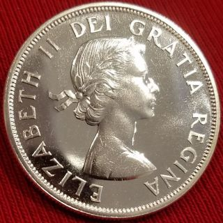 Canada 1962 Silver Dollar & Stunning Coin Proof - Like photo