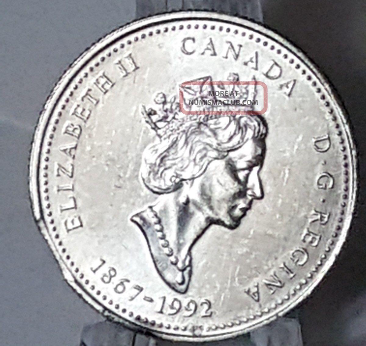 1992 Canada Twenty Five Cent Error Coin Clipped Planchet - Pei 25c Coins: Canada photo