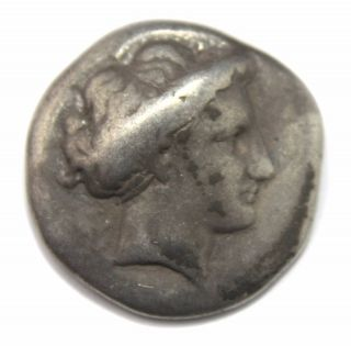 Chalkis,  Euboia.  Ar Drachm (16 Mm,  3.  38 G),  C.  338 - 308 Bc photo