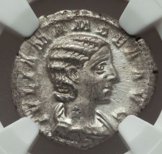 Roman Empire,  Julia Mamaea,  Ad 222 - 235,  Ar Denarius,  Ngc Au photo