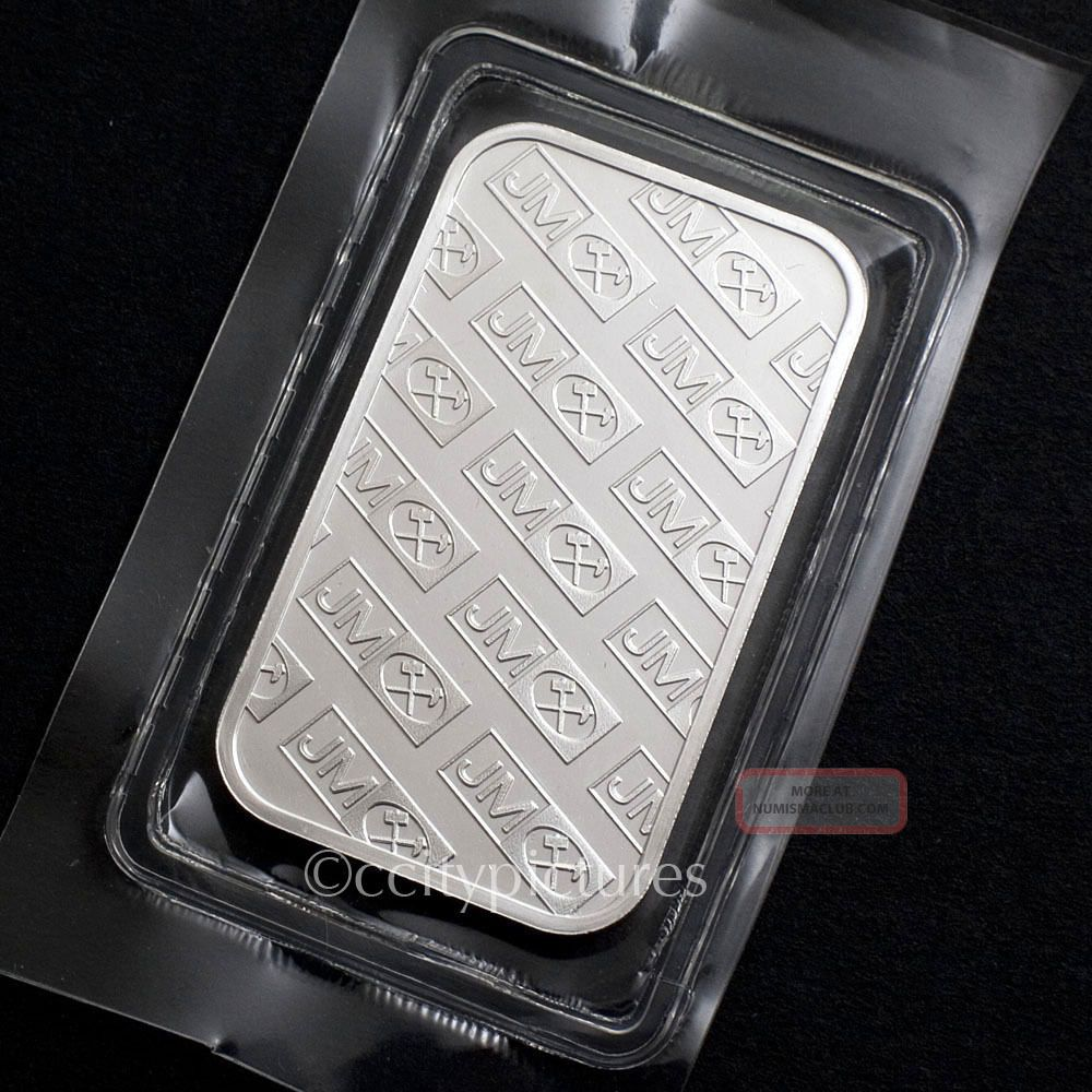 1 Troy Oz Johnson Matthey 999 Fine Silver Bar 02