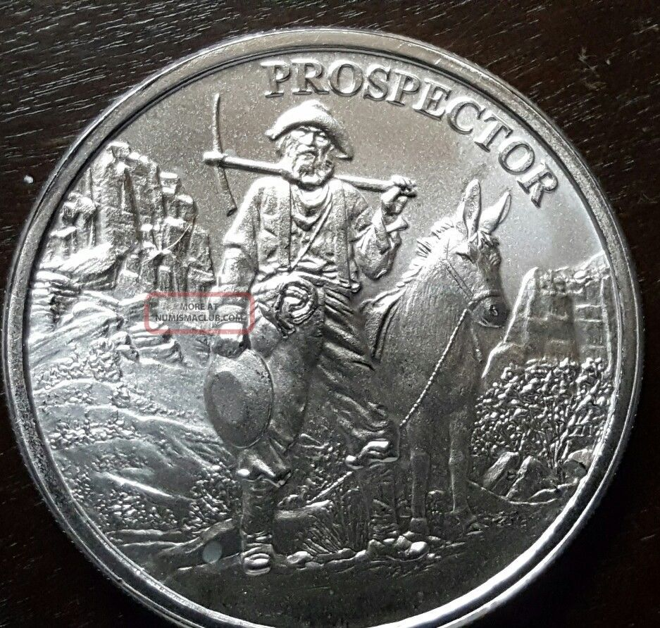 Quot Prospector Quot 1oz 999 Fine Silver Bu Flawless 1of20