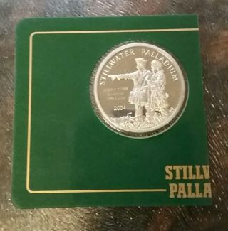1/2 Oz.  Palladium Round - Johnson Matthey Stillwater 999.  5 Fine In Vintage Assay photo