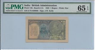 India / British Administration - 1 Rupee,  1935.  Pmg 65epq. photo