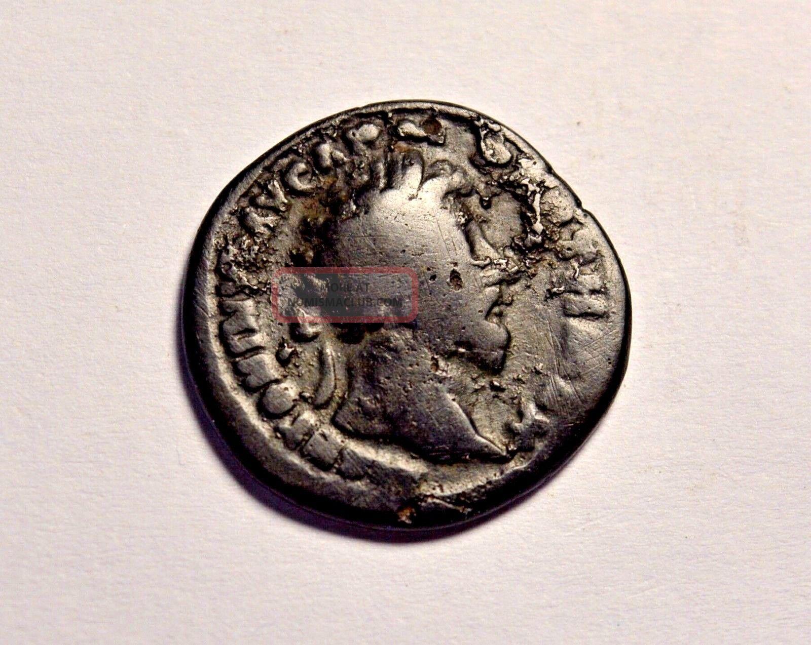 Limes Denarius Ancient Roman Coin Marcus Aurelius Silvered Bronze Denar Coins: Ancient photo