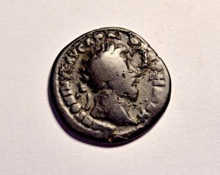 Limes Denarius Ancient Roman Coin Marcus Aurelius Silvered Bronze Denar photo