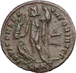 Licinius I Constantine The Great Enemy 313ad Ancient Roman Coin Jupiter I55066 photo