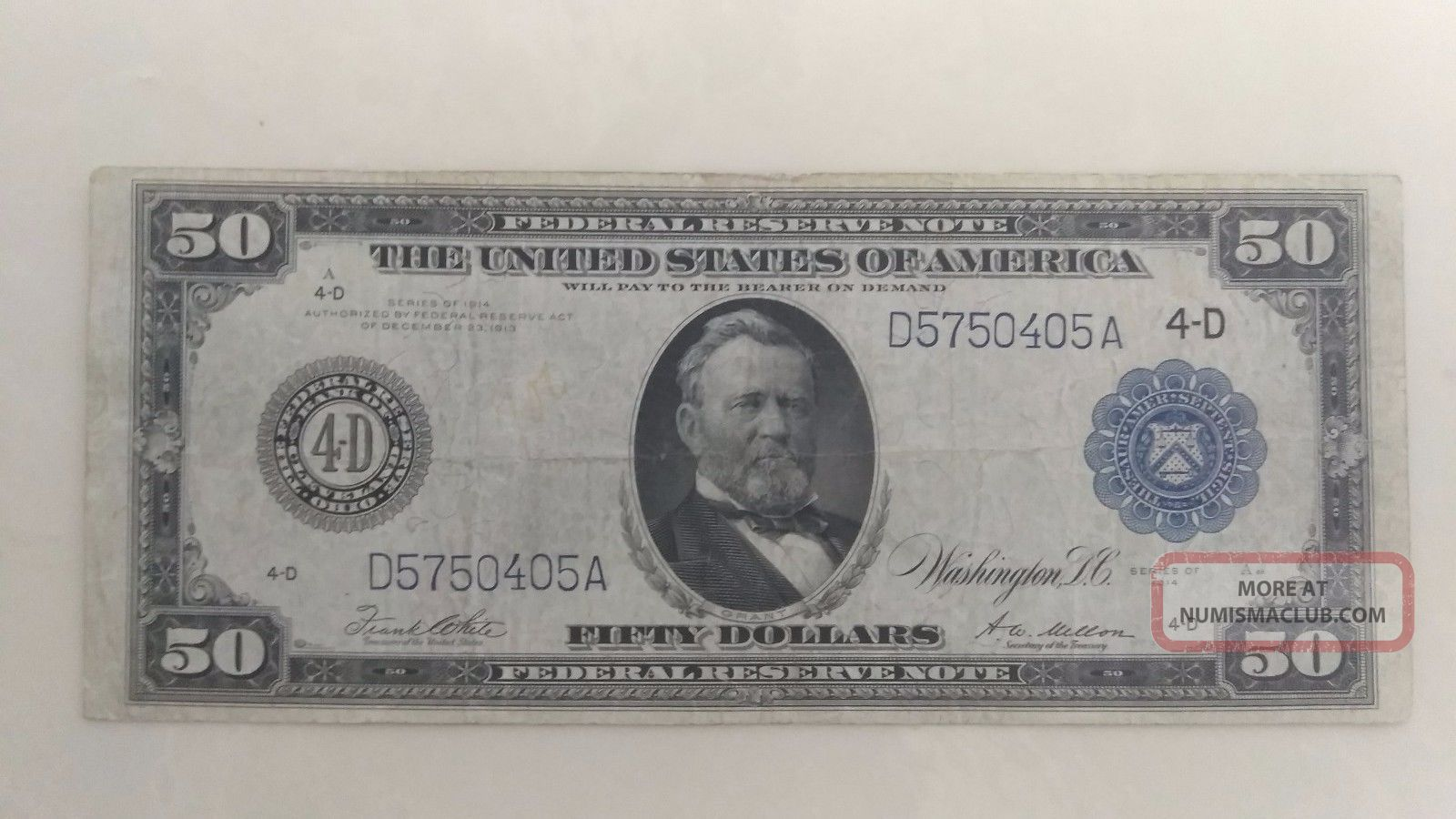 1914 $50 Cleveland Federal Reserve Note Large Size Notes photo