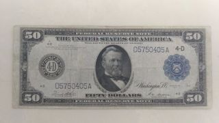 1914 $50 Cleveland Federal Reserve Note photo