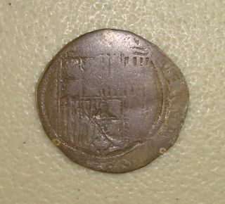 (1475 - 1504) Spain,  Ferdinand - Isabel Silver 1 Real Vg photo