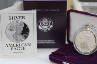 1992 S American Silver Eagle Proof Coin And photo