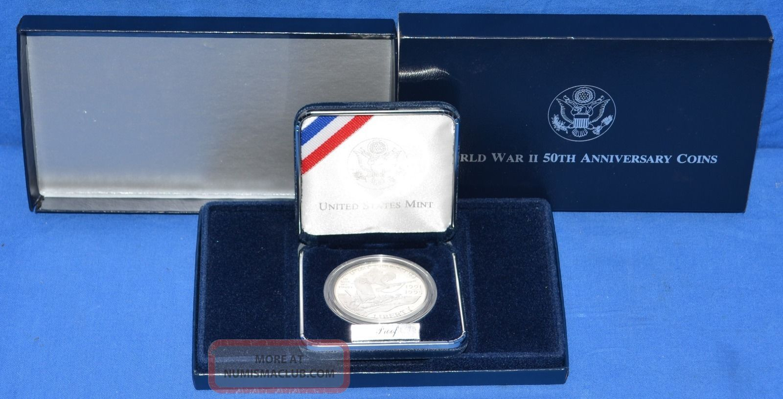 1991 - 1995 Wwii 50th Anniversary Commemorative Uncirculated $1 Silver Coin Coins: World photo