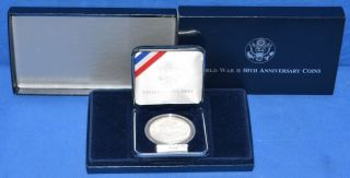 1991 - 1995 Wwii 50th Anniversary Commemorative Uncirculated $1 Silver Coin photo