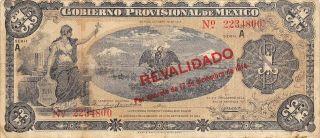 México / Veracruz 1 Peso 17.  12.  1914 Series A Circulated Banknote photo