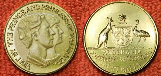 Australia: - Charles & Diana Royal Visit Commemorative Medallion 1983 Adp5700 photo